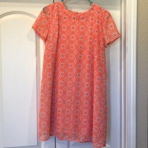 Patterned Lightweight Shift Dress